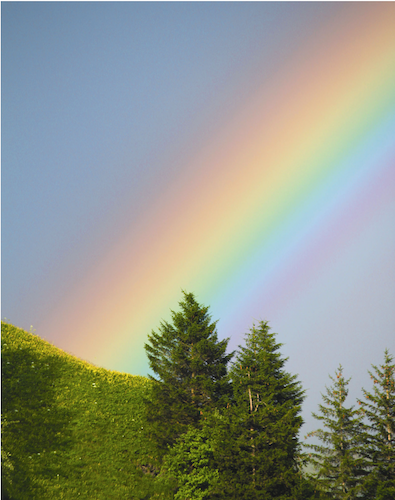 What is Color Therapy? Rainbow Rays of Color in Grindelwald - copyright Terres Unsoeld