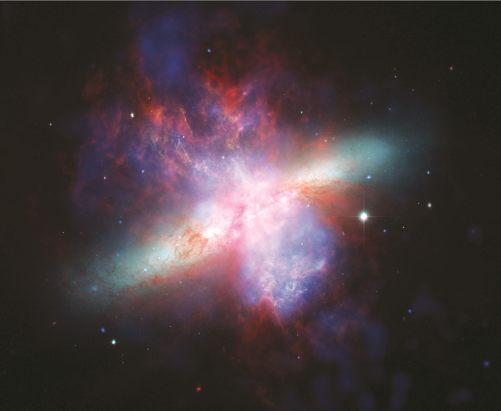 What is Color Therapy? Chandra/Hubble/Spitzer X-Ray/Visible/Infrared Image M82 Photo courtesy Hubble Telescope