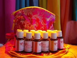 Faery Shaman Terres Unsoeld's Organic Faery Essences, made from organic essential oils, organic grape alcohol and spring water, are used in Color Therapy to activate the Spiritual Light of the chakras and aura in Tama-Do Academy