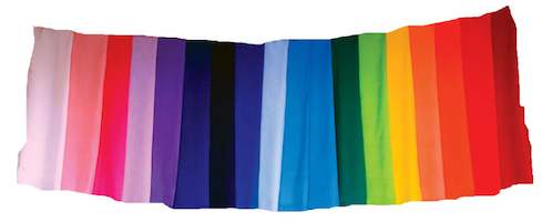 Faery Shaman Terres Unsoeld has collected 20 Rainbow Color Silks®, which are hand sewn and used in our Tama-Do Color Therapy to balance the chakras and subtle bodies (aura).