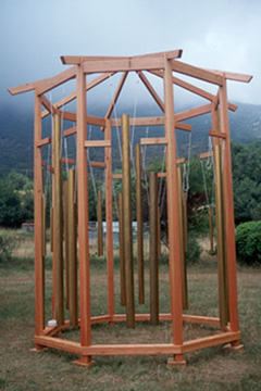 Tama-Do's Bagwa, a magnificent eight-sided, 13' high cathedral of sound