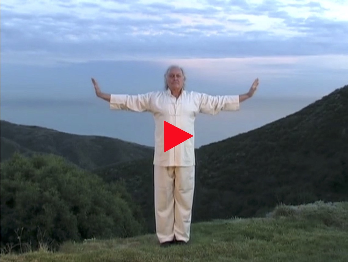 Fabien Maman Practices Zhi Neng Qi Gong at Mysty Haven, the Home of Tama-Do Academy
