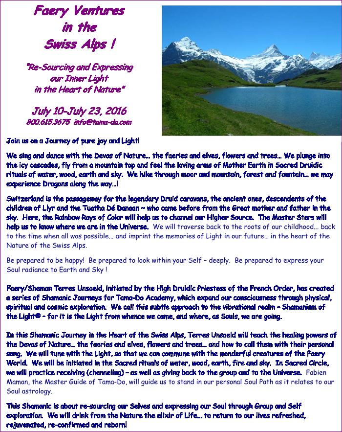 Shamanic Journeys in the Swiss alps